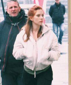 Black Widow 2021 Natasha Romanoff White Hooded Cotton Jacket