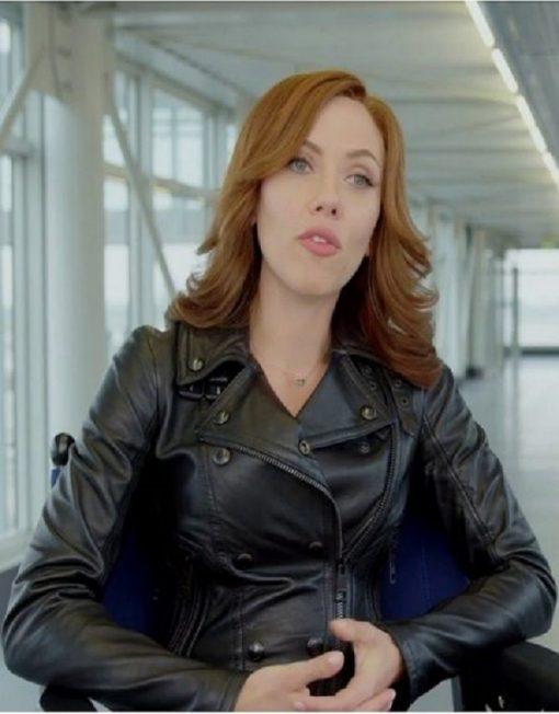 Natasha Romanoff Captain America Civil War Black Jacket