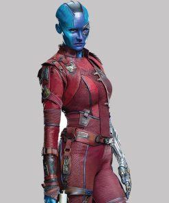 Guardians of The Galaxy Vol 2 Nebula Leather Jacket