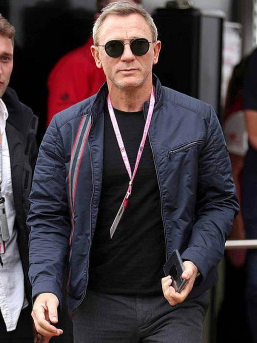 No Time to Die Daniel Craig Blue Jacket