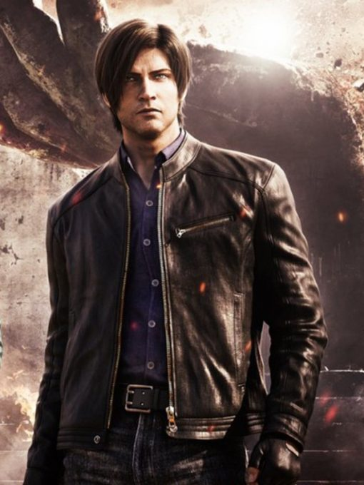 Leon Kennedy Resident Evil Infinite Darkness Leather Jacket