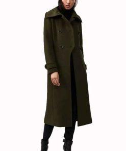 Sarah Cooper The Republic of Sarah Green Wool Coat