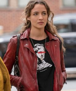 Sarah Cooper The Republic of Sarah Red Leather Jacket