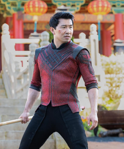 Shang-Chi and the Legend of the Ten Rings Maroon Leather Jacket