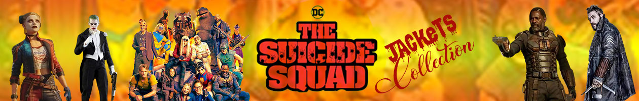 Suicide Squad jackets collection banner