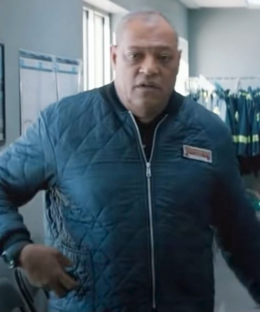 The Ice Road Goldenrod Blue Quilted Jacket