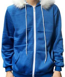Sans Adult Children Blue Print Hoodie