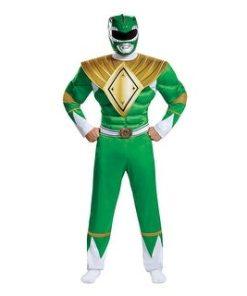 Adult Costumes For Power Ranger Men Mighty Morphin Green Ranger