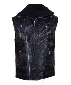 Allen Neal Jones WWE A.J. Styles Black Leather Vest