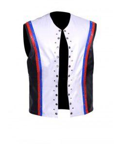 Allen Neal Jones WWE A.J. Styles White Leather Vest