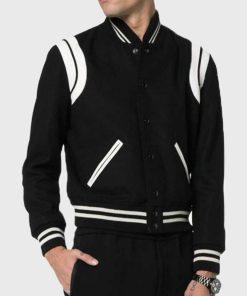 Saint Laurent Teddy Jacket Black