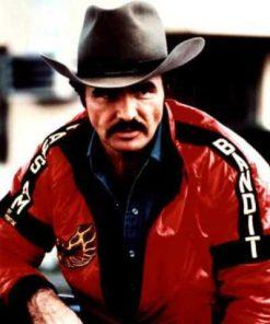 Burt Reynolds Smokey and The Bandit Red Leather Jacket