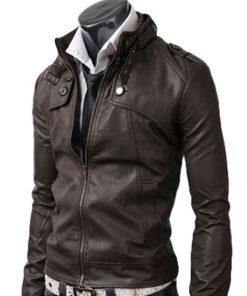 Button Pocket Slim Dark Brown Jacket