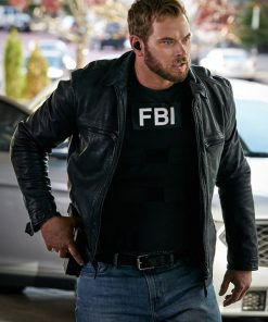 FBI Most Wanted Kenny Crosby Black Leather Jacket