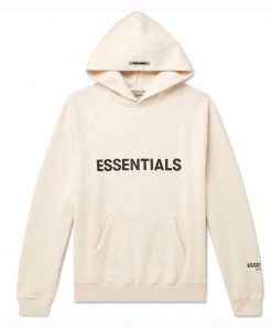 Fear Of God Essentials Pullover White Hoodie
