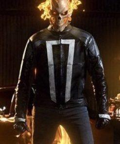 Gabriel Luna Agents Of Sheild Black Ghost Rider Black Leather Jacket