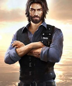 Free Fire Andrew Suede Black Leather Vest