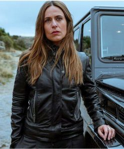 Itziar-Ituno-Money-Heist-Raquel-Murillo-Leather-Black-Jacket