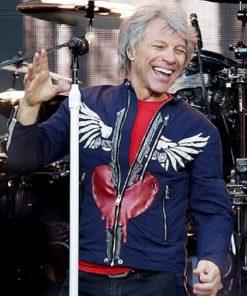 Jon Bon Jovi Anfield Liverpool Blue Cotton Jacket