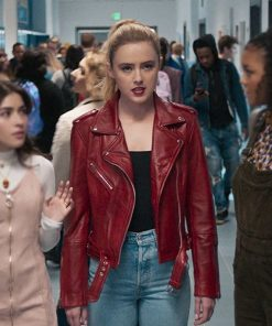 Millie Freaky Red Leather Jacket