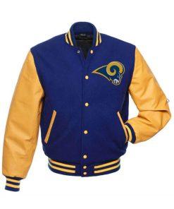 Los Angeles Rams Blue Varsity Jacket