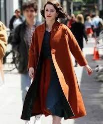 MRS. Maisel The Marvelous Rachle Brosnahan Orange Coat