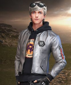 Garena Free Fire Maxim Silver Leather Jacket
