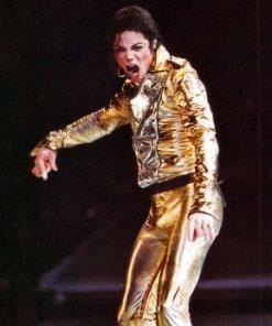 Michael Jackson Golden Jacket