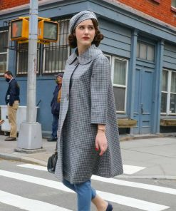 Mrs. Maisel The Marvelous RachleBrosnahan SO4 Grey Coat