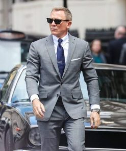 No Time To Die James Bond Lifestyle Glen Check Grey Suit