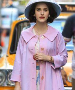 RachleBrosnahan The Marvelous Mrs. Maisel Light Pink Coat
