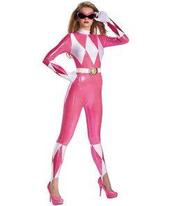 Pink Power Ranger Series Body Costume Adult Halloween Suit
