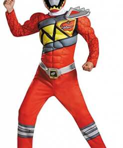 Power Rangers Red Charge Dinosaur Costume Classic Kids