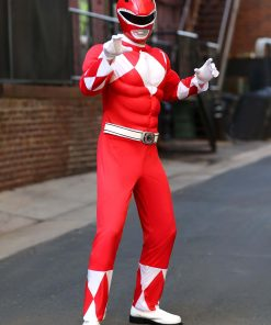 Mighty Morphin Red Power Ranger Costumes Adult For Men