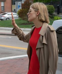 Robie Uniacke I Care a Lot Netflix   Rosamund Pike Cotton Coat