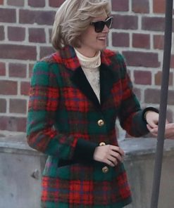 Spencer 2021 Kristen Stewart Felt Coat Worn By Princess Diana