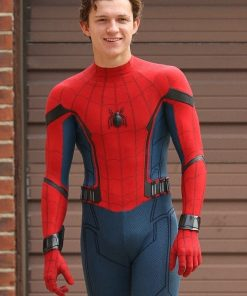 Tom Holland Spiderman Homecoming Leather Jacket