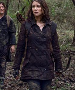 The Walking Dead Season 10 Maggie Rhee Brown Jacket