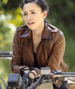 The Walking Dead Rosita Espinosa S09 Brown Leather Jacket
