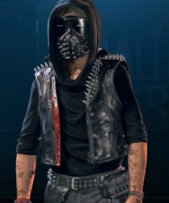 Watch Dogs Legion Wrench Black Leather Vest