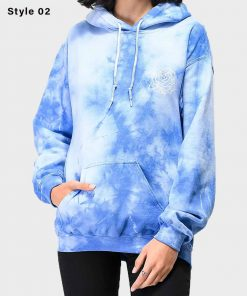 Womens Oversized Dusty Rosa Pullover Blue Hoodie