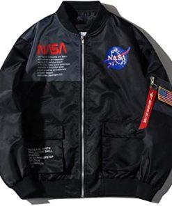 nasa jacket black