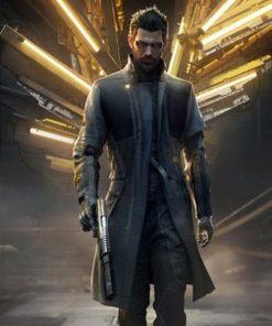 Adam Jensen Deus Ex: Mankind Divided Black Trench Coat