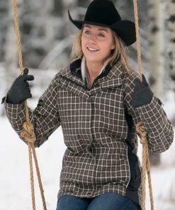 Amy Fleming Heartland Amber Marshall Brown Checkered Jacket