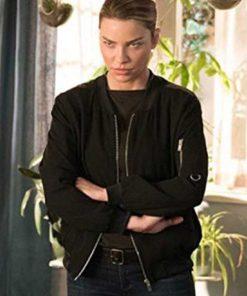 Chloe Decker Lucifer Lauren German Black Bomber Cotton Jacket