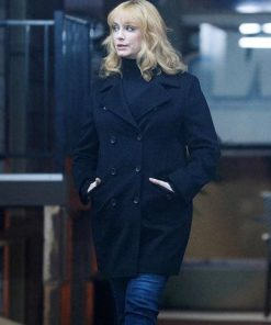 Christina Handricks Good Girls Trench Black Coat