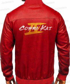 Cobra Kai Season 4 Red Leather Jacket