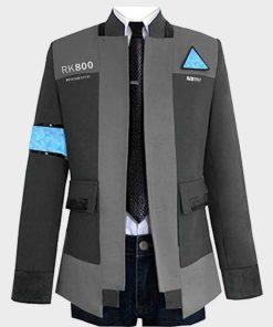 Connor Detroit Become Human Bryan Dechart Gray Cotton Coat