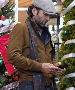 Eion Bailey Deliver by Christmas Josh Brown Suede Leather Jacket