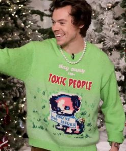 Green Sweater, Stay Away From Toxic People, Woolen Sweater